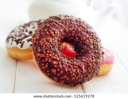 Sweet donuts, different kind from donuts - stock photo