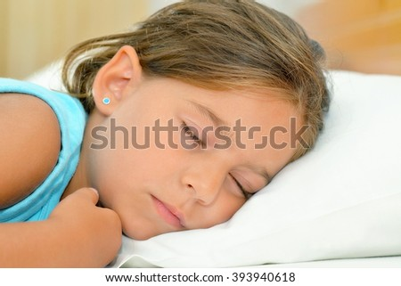 Sweet dreams, real adorable toddler girl sleeping