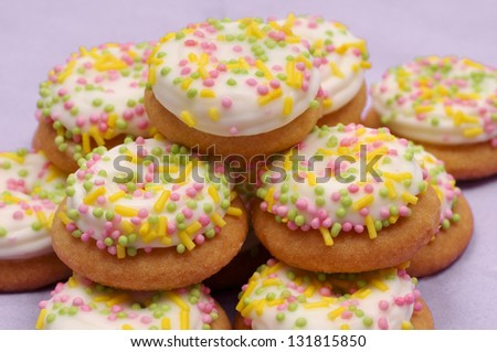 Sweet Easter cookie - stock photo