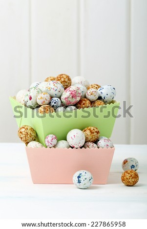 sweet easter eggs - stock photo