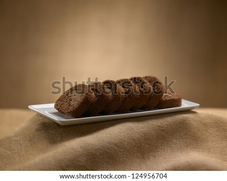 sweet food dessert, cake in setting minimal on the typical background - stock photo