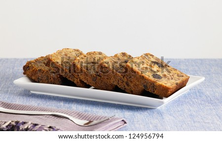 sweet food dessert, cake in setting minimal on the typical background