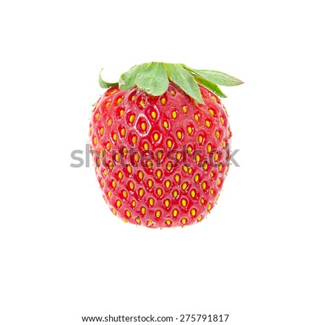 Sweet Fresh Strawberry Isolated on White Backgroun