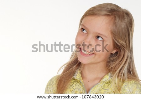 Sweet girl showed herself in the photos - stock photo