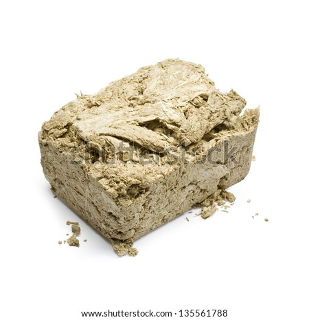 sweet halva on white background