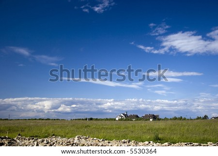 sweet home under the sky - stock photo