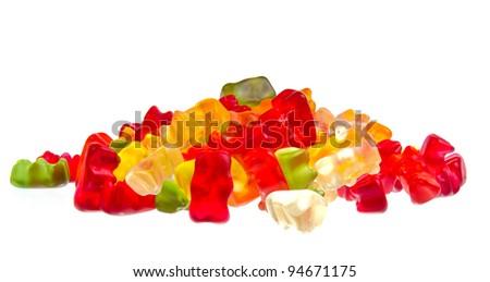Sweet jelly teddies - stock photo