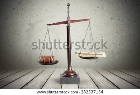 Sweet, justice, gavel. - stock photo