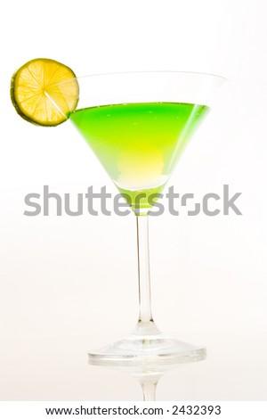 sweet kiwi cocktail - stock photo