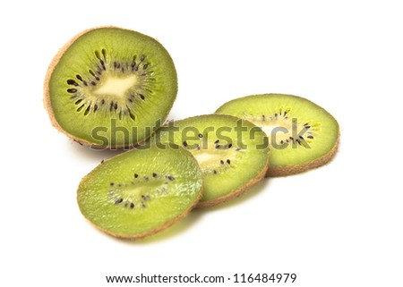 Sweet kiwi  on a white background