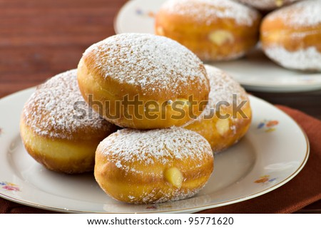 Sweet krapfen - stock photo
