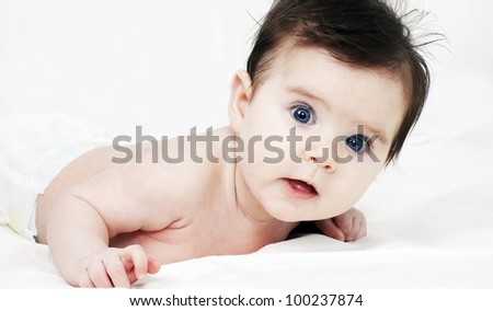 Sweet little baby - stock photo