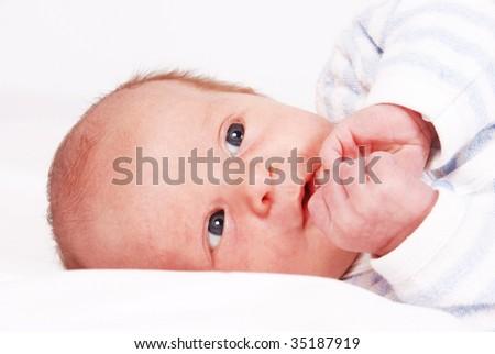 Sweet little baby - stock photo