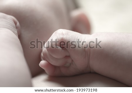 Sweet little Baby Close Up - stock photo