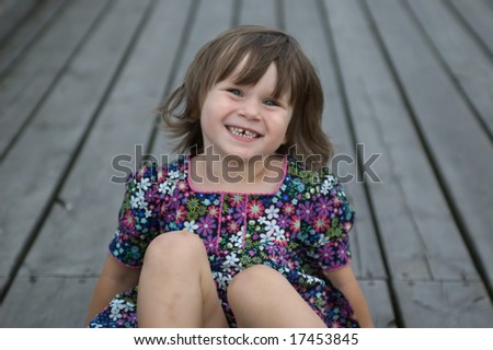 sweet little girl. portrait - stock photo