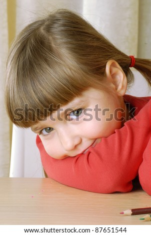 Sweet little girl portrait. - stock photo