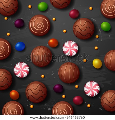 sweet lollipops. color candy background - stock photo