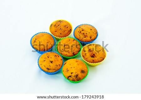 sweet muffins - stock photo