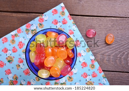 Sweet multicolor candies - stock photo