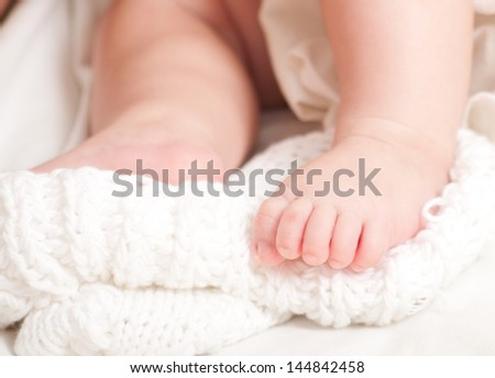Sweet newborn baby feet