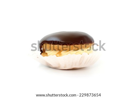 Sweet pastry bush wrapped in baking paper - stock photo