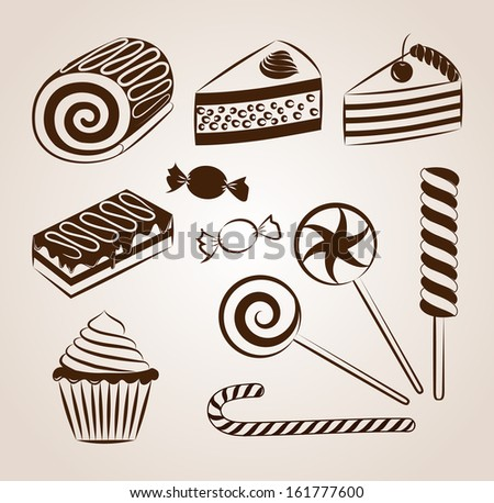 Sweet pastry collection - stock photo
