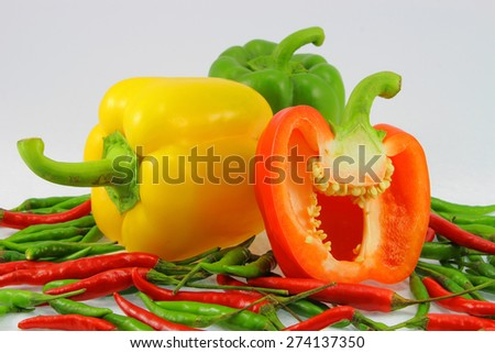 sweet pepper with chilli