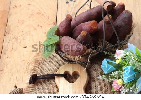 sweet potato boiled with of sugar delicious - stock photo