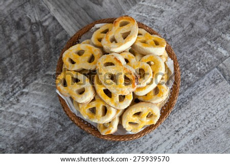 Sweet pretzels - stock photo