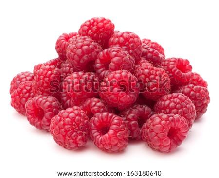 Sweet raspberry isolated on white background cutout - stock photo