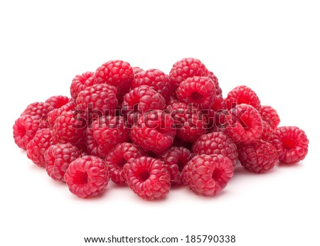 Sweet raspberry isolated on white background cutout - stock photo