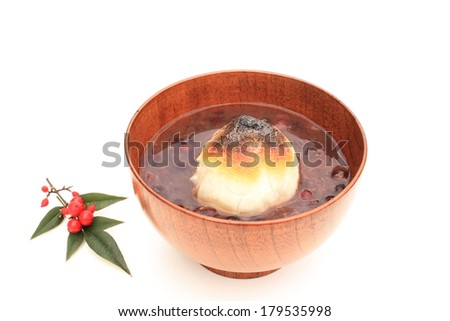 Sweet red-bean soup - stock photo