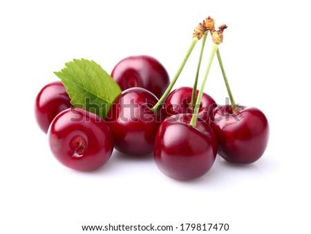 Sweet ripe cherry - stock photo