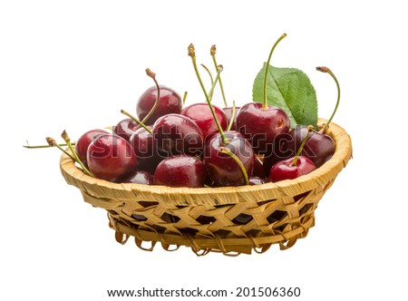 Sweet ripe gean cherry berries