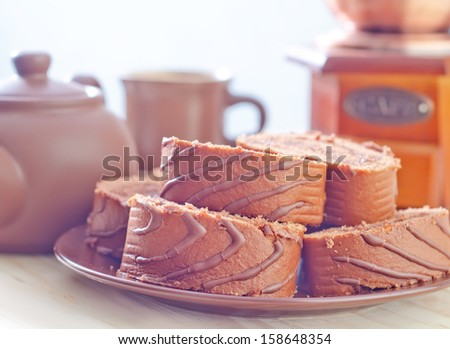 sweet roll - stock photo