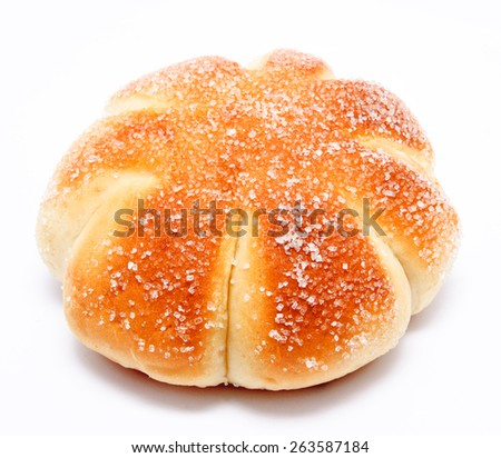 Sweet roll bun isolated on a white  background - stock photo
