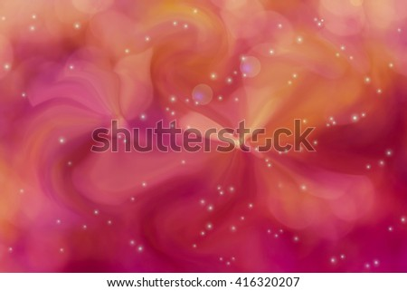 Sweet romantic abstract flora with lens flare for pastel pink orange sweet background