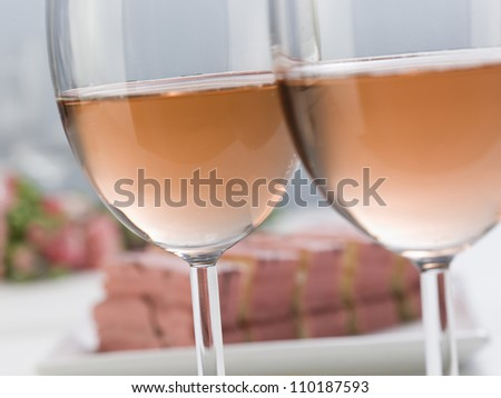 Sweet rose wine