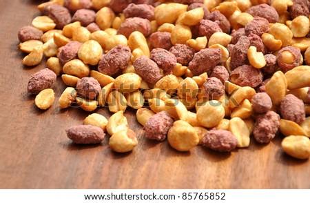 Sweet & Salty Peanuts - stock photo