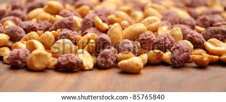 Sweet & Salty Peanuts Zoom - stock photo