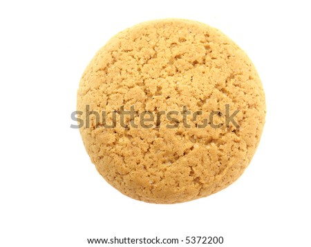 Sweet shiny biscuit isolated on white background - stock photo