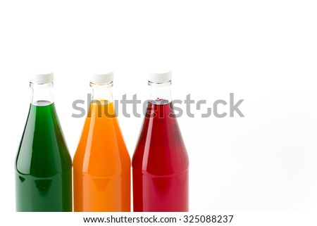 sweet soft drink bottle on white background