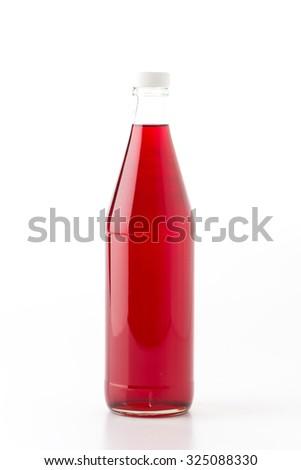 sweet soft drink bottle on white background - stock photo