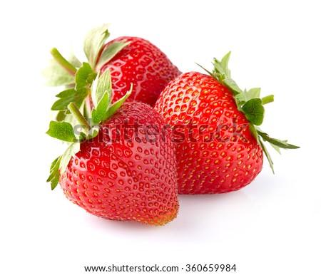 Sweet strawberry in closeup - stock photo