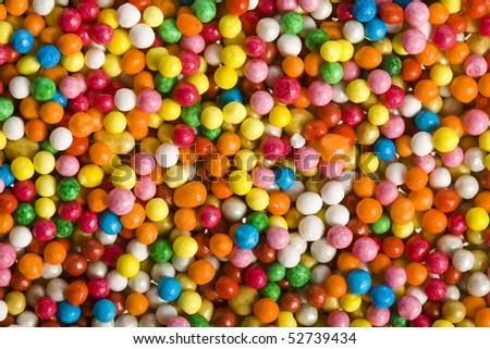sweet sugar spreading pastry decoration background - stock photo