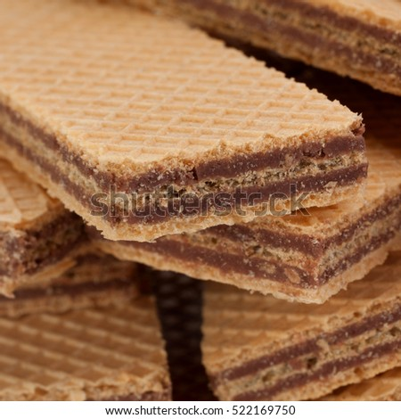 Sweet wafer closeup detail background