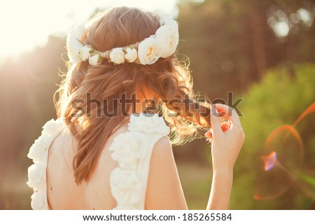 sweet wedding details on the wedding day - stock photo