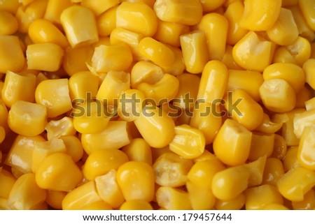 Sweet whole kernel corn background - stock photo