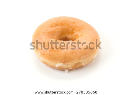 sweeties donut on white background - stock photo