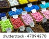 sweets at the boqueria market in Barcelona - stock photo